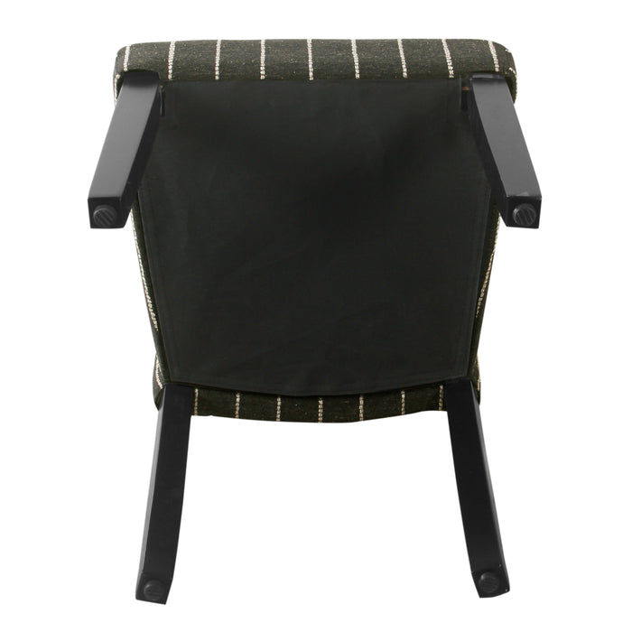 HomePop Classic Parsons Dining Chair -Black with Boucle Stripe (Set of 2)