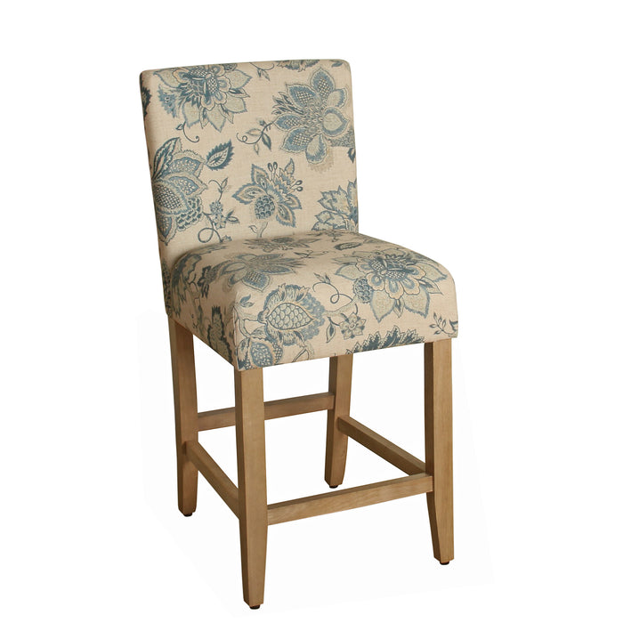 "24"" Classic Counter Stool - Blue Floral"