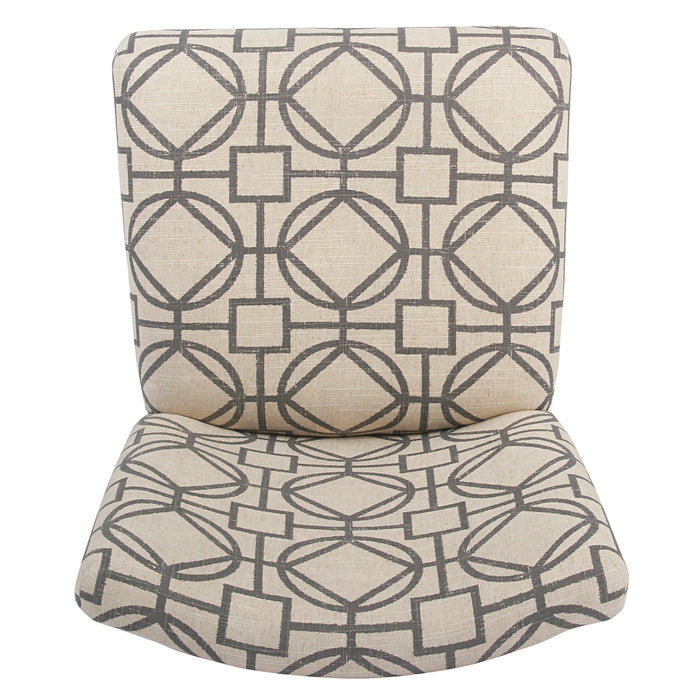 "24"" Classic Counter Stool - Gray Lattice"
