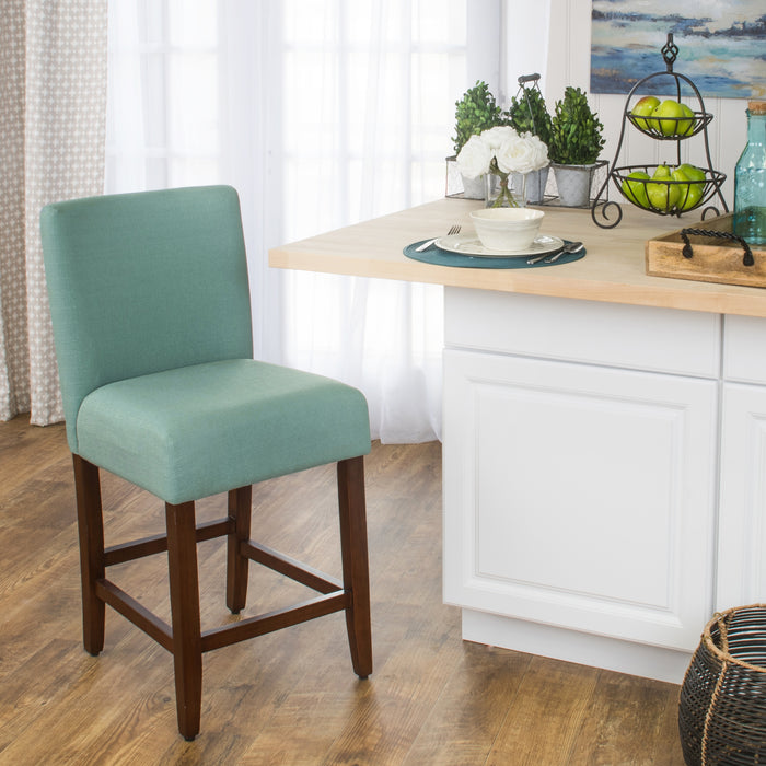 "24""Classic Counter Stool - Textured Aqua"