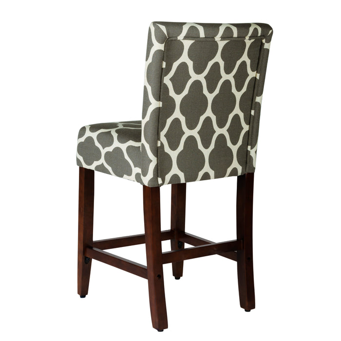 "24""Classic Counter Stool - Gray Geometric"