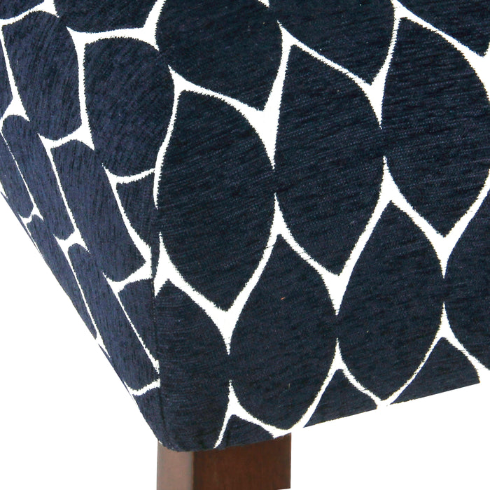 "24"" Classic Counter Stool - Textured Navy Geo"