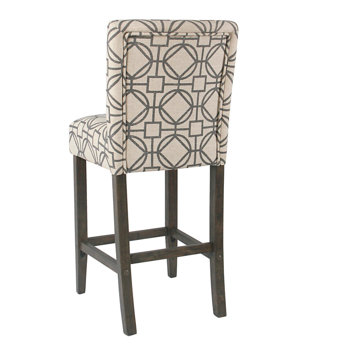 "29"" Classic Barstool - Gray Lattice"