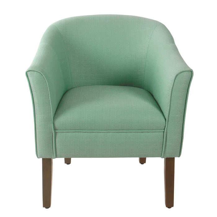 HomePop Modern Barrel Accent Chair - Textured Aqua