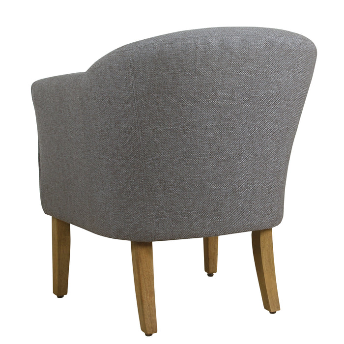 Modern Barrel Accent Chair - Charcoal