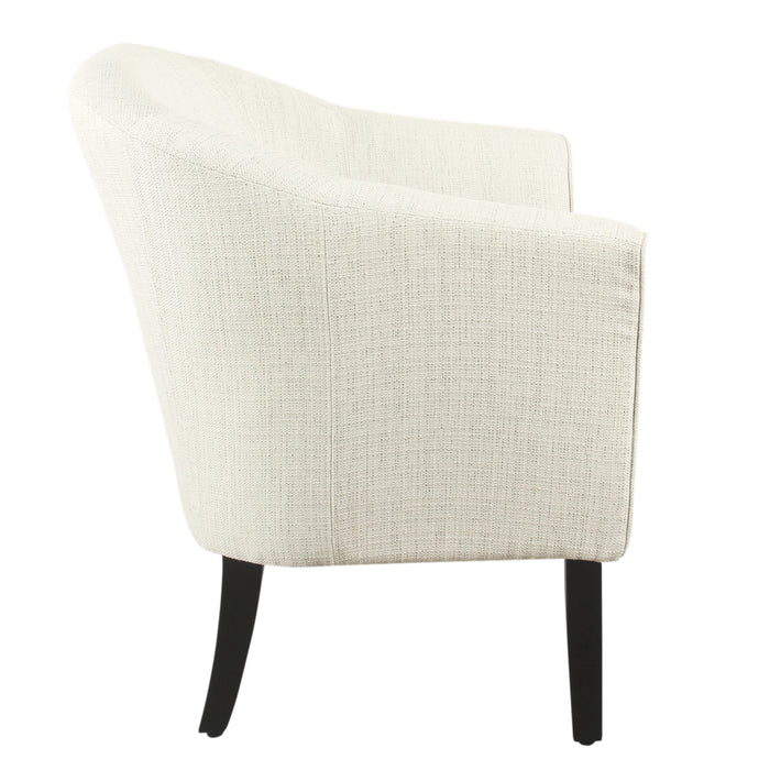 Modern Barrel Accent Chair - Stain Resistant Textured Natural