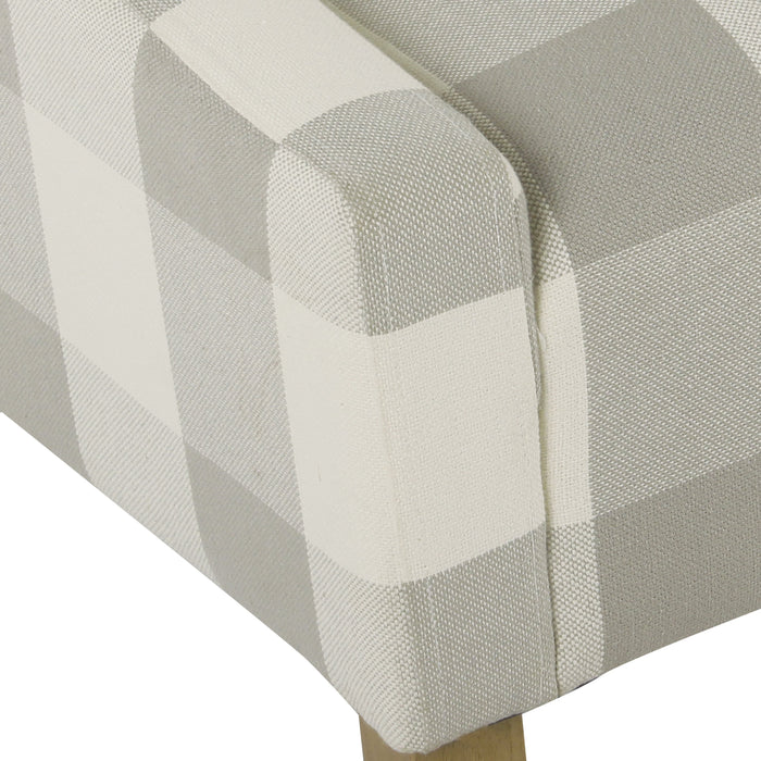 Modern Swoop Arm Accent Chair - Gray Plaid