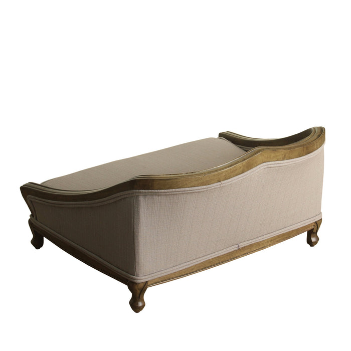 Luxury Pet Bed Arched Wood Frame - Tan Woven