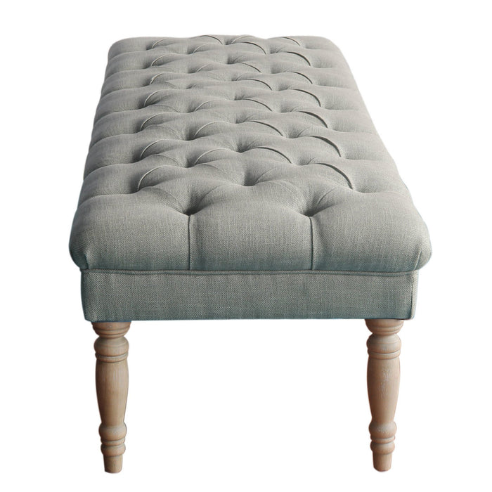 Classic Tufted Bench - Gray