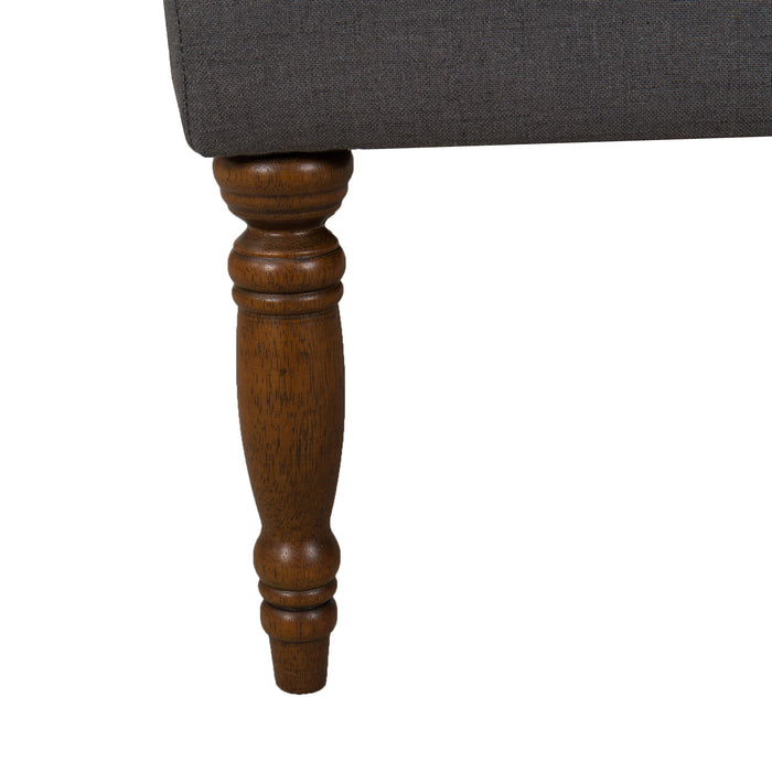 Classic Tufted Bench - Dark Charcoal Gray