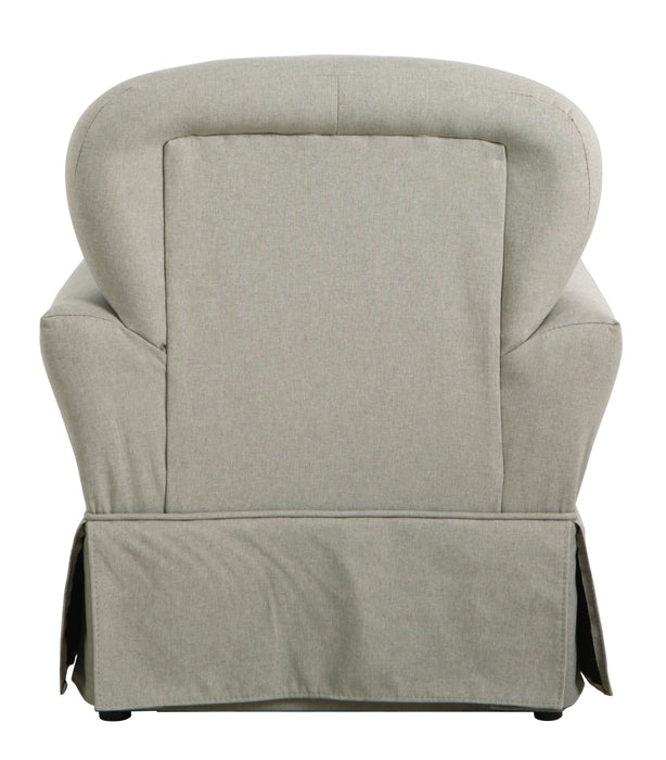 Kids Chair and Ottoman - Stain Resistant Gray Fabric