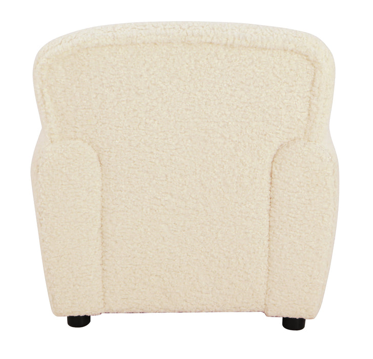 Kids Club Chair - Faux Sheepskin Fur Natural