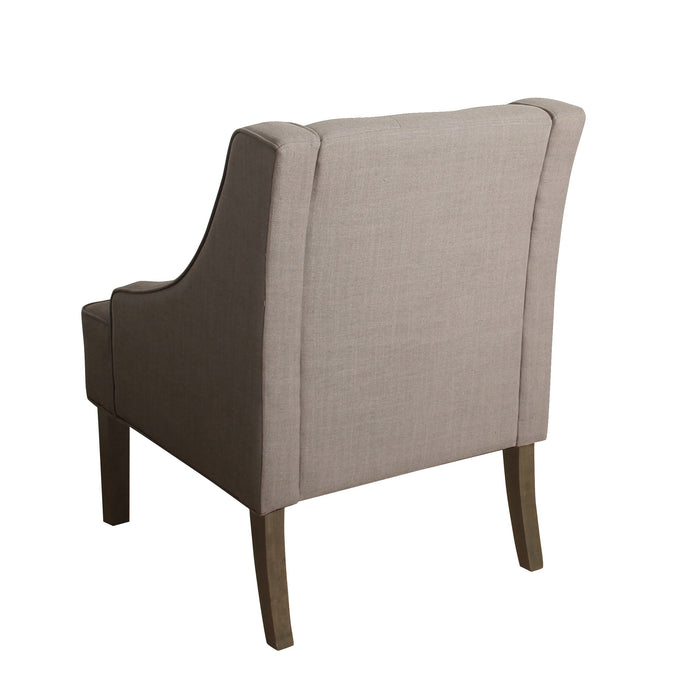 Kate Tufted Swoop Arm Accent Chair