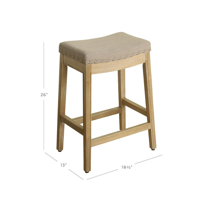"24"" Counter Stool Saddle Seat - Tan Woven"