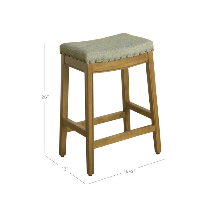 "24"" Counter Stool Saddle Seat - Seafoam Woven"
