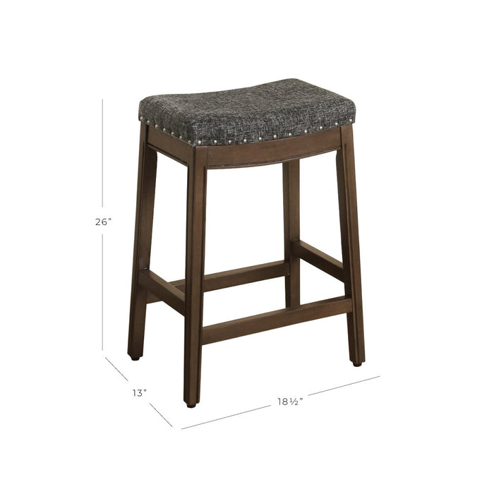 "24"" Counter Stool Saddle Seat - Dark Gray Woven"
