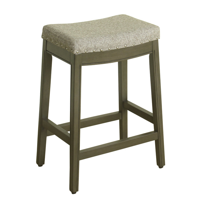 "24"" Counter Stool Saddle Seat - Gray Tweed"