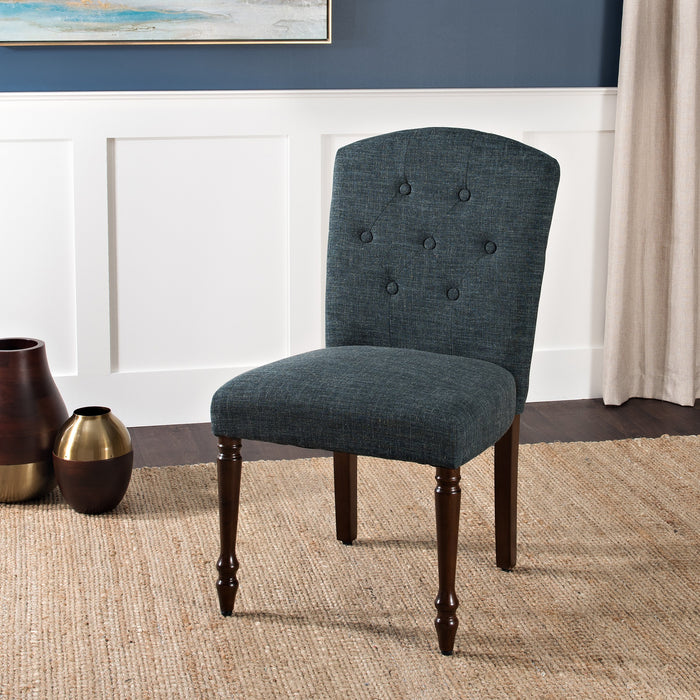 Tufted Back Dining Chair - Dark Teal