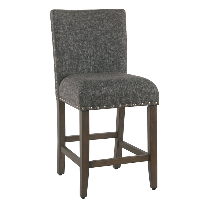 "24"" Barstool with Nail heads - Slate Gray"