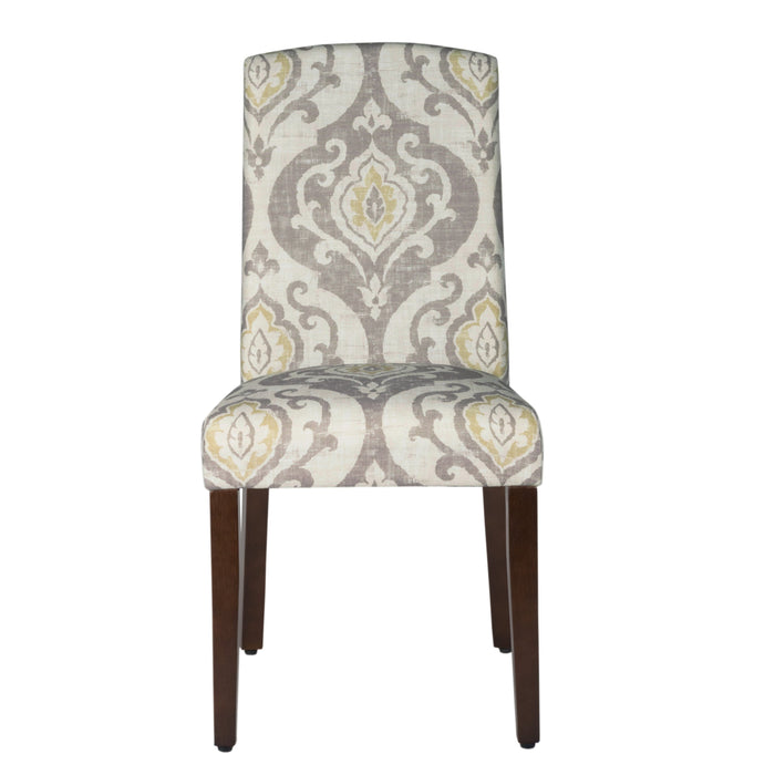 Curved Back Parsons Dining Chair - Suri Brown - Set of 2