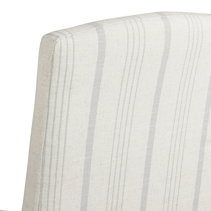 Curved Back Parsons Dining Chair - Dove Grey Stripe - Set of 2