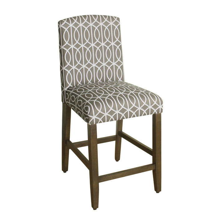 "24"" Curved Top Barstool - Gray Trellis"
