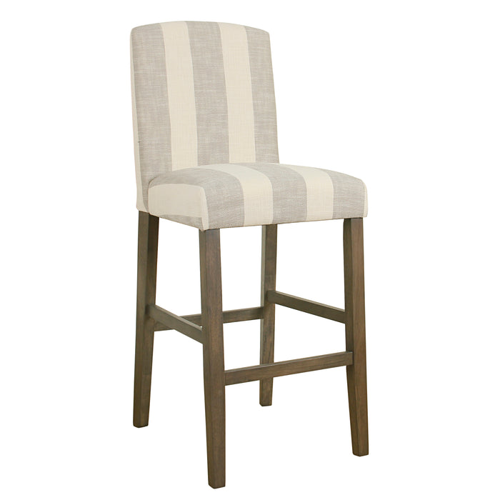 "29"" Curved Back Barstool - Gray Stripe"