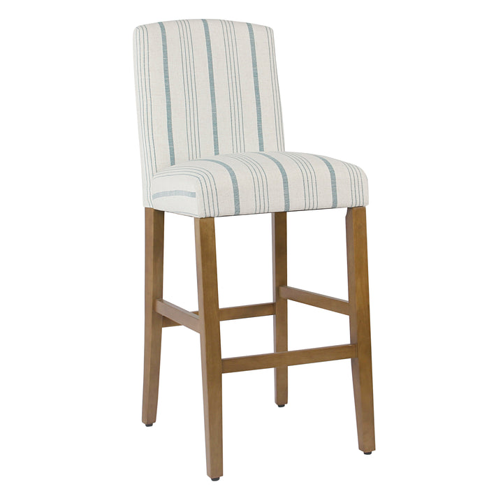 "29"" Curved Back Barstool - Blue Calypso Stripe"