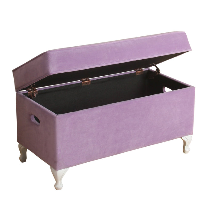 Diva Decorative Storage Bench - Purple Velvet