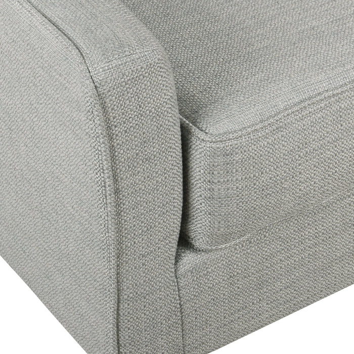 Davis Mid-Century Accent Chair - Textured Gray