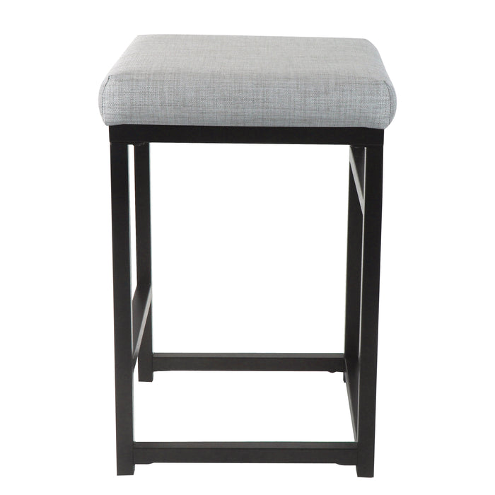 "24"" Open Back Metal Counter Stool - Light Gray"
