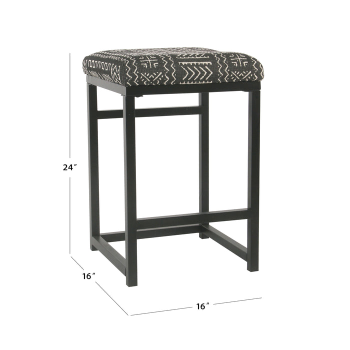 "24"" Open Back Metal Counter Stool - Onyx"