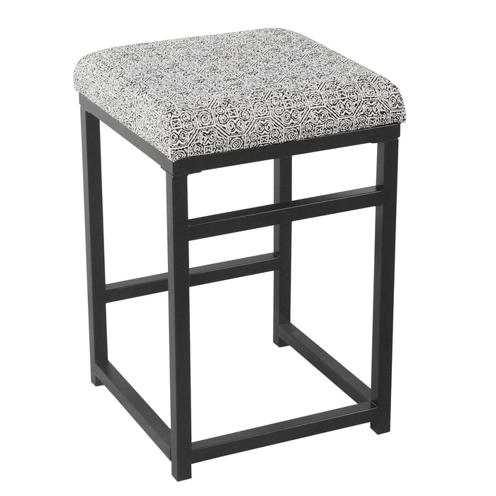 "24"" Open Back Counter Stool - Global Print"