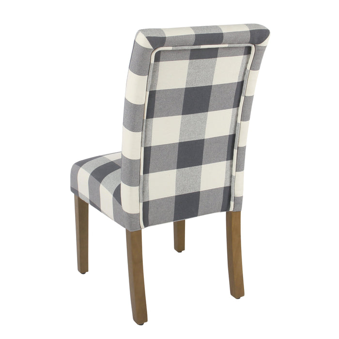 Parsons Dining Chair - Blue Plaid - Set of 2