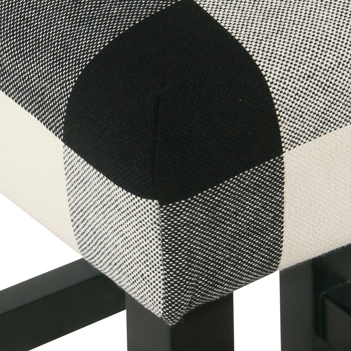 Square Counter Stool - Black Plaid