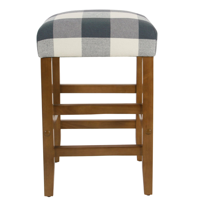 Square Counter Stool - Blue Plaid
