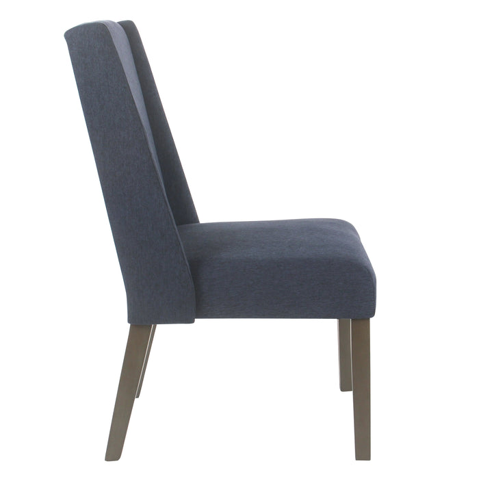 Modern Wingback  Dining Chair - Navy- Set of 2