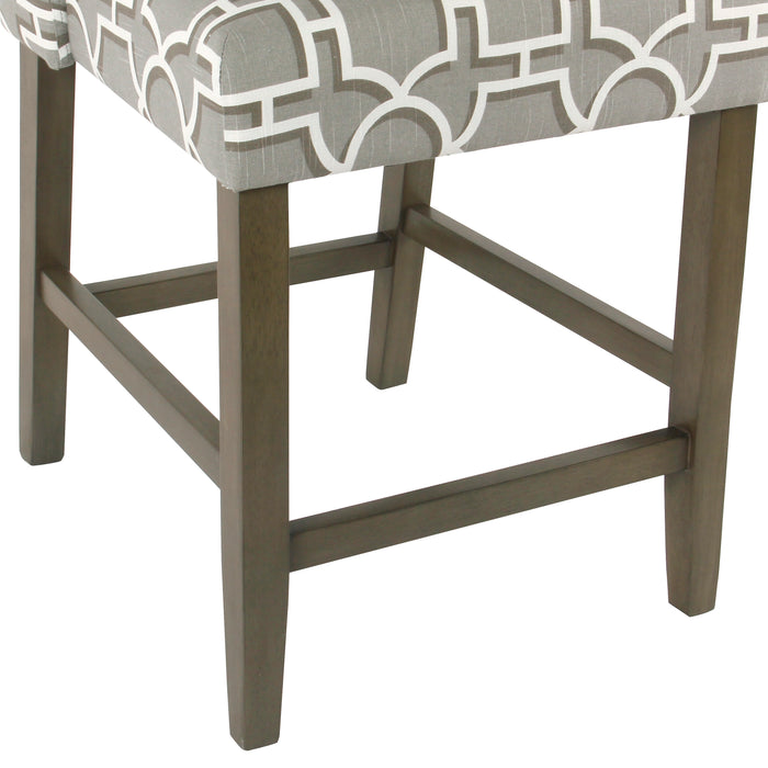 Modern Counter Stool -Modern Gray Lattice
