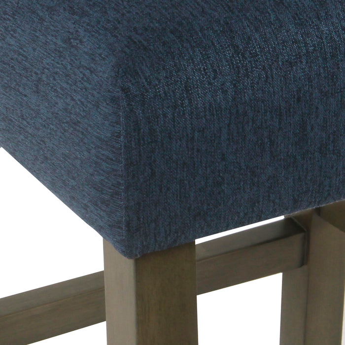 Modern Counter Stool - Navy Woven