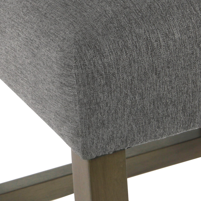 Modern Counter Stool - Pewter Woven