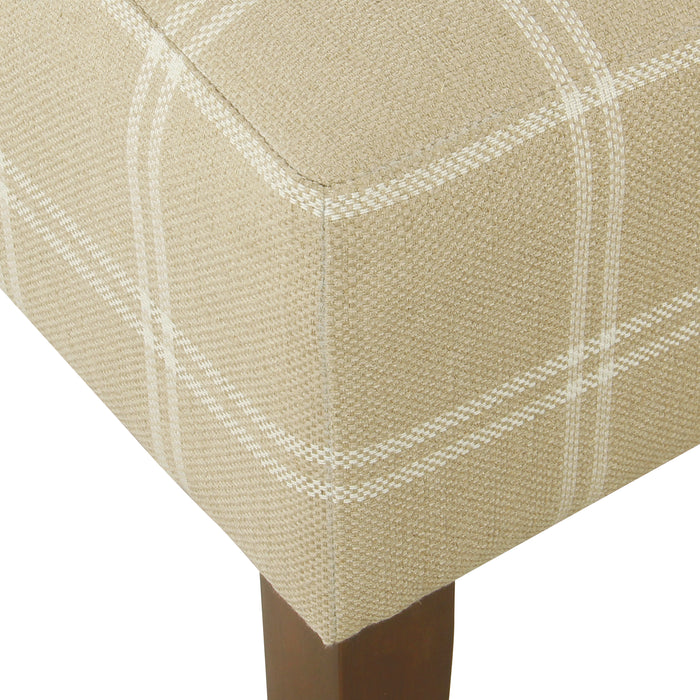 Armless Dining Accent Chair - Tan Plaid