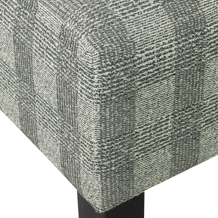 Armless Dining Accent Chair - Light Gray Plaid