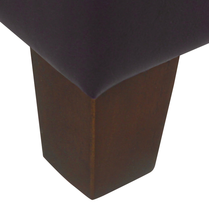 "48"" Tufted Storage Bench - Brown Faux Leather"