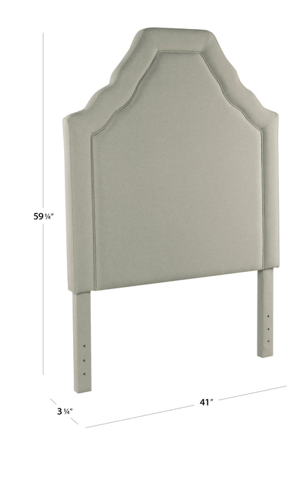 Twin Upholstered Headboard- Stain Resistant Gray Fabric