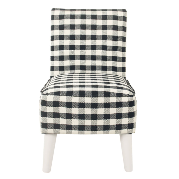 Kid's Modern Slipper Chair - Mini Black Plaid