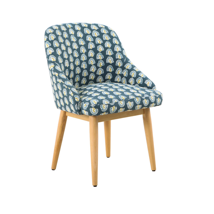 Riley Dining Accent Chair - Turquoise Floral