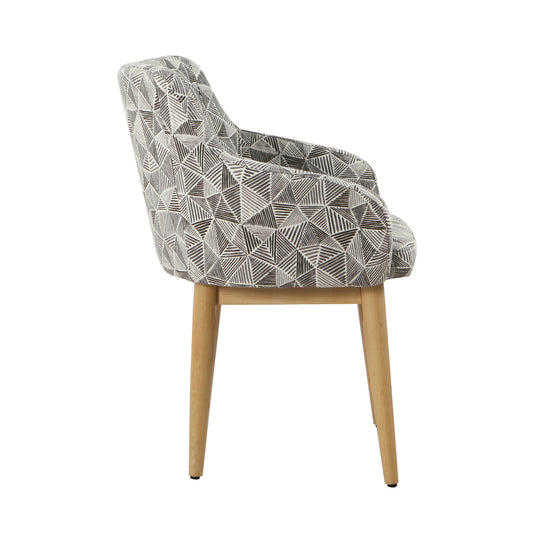 Milo Dining Accent Chair - Gray Lines
