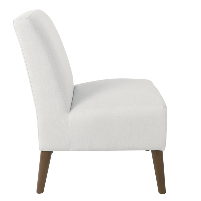 Modern Armless Dining Accent Chair - Cream