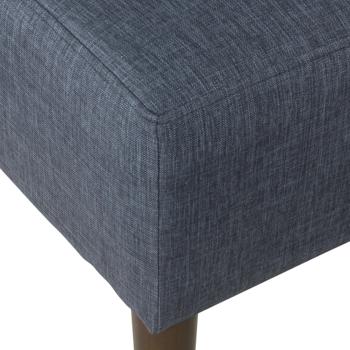 Modern Armless Dining Accent Chair - Dove Gray Stripe
