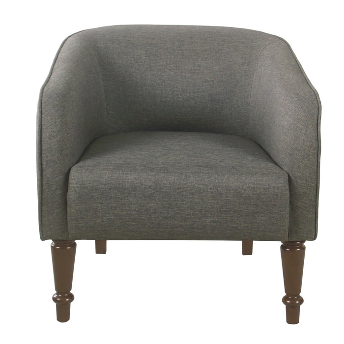 Traditional Barrel Chair - Gray Woven